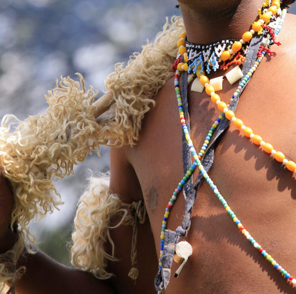 Détails guerrier Zulu Afrique du Sud